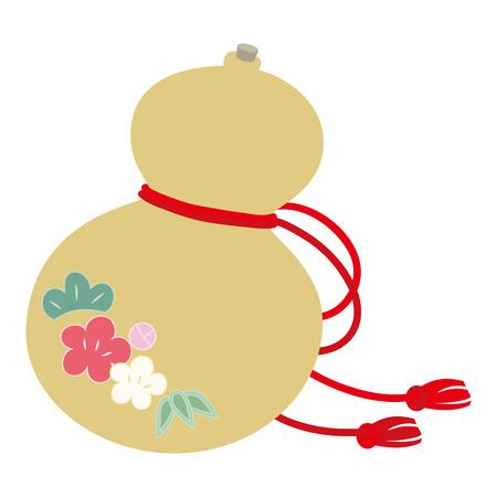 Gourd's illustration of luck charm. Illustration