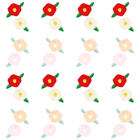 Illustration of the background of the camellia flower Stock Vector - 118884994