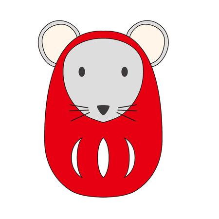 Illustration of a DAruma mouse.