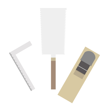 illustration of a DIY tool set. (Saw, plane, etc.) Ilustração