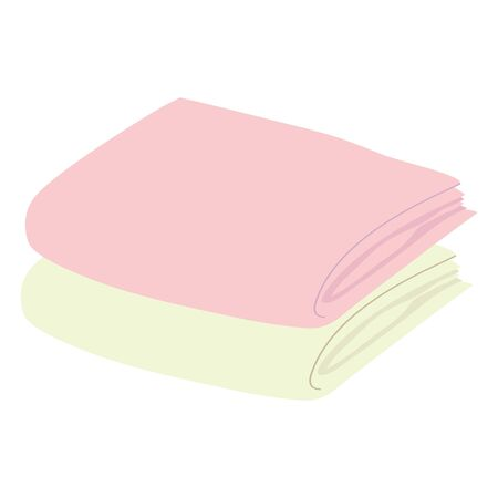 Illustration of two towels