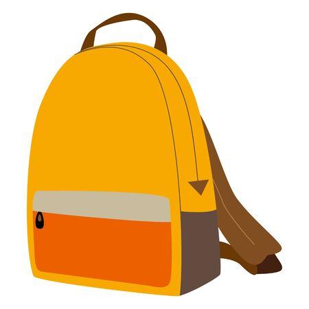 Illustration of rucksack