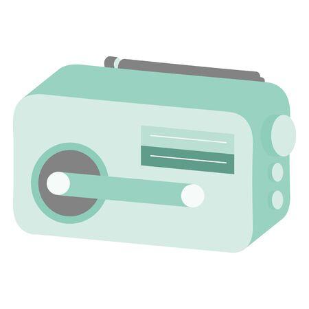 Illustration of a portable radio  イラスト・ベクター素材