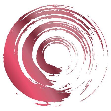 Un cercle dessiné avec un pinceau. Vecteurs