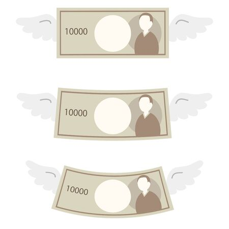 Illustration of three types of winged cash.