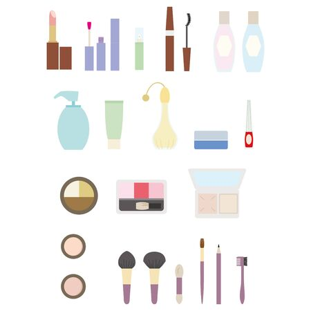 Makeup item icon set Color illustration without lines. Stockfoto - 133450759