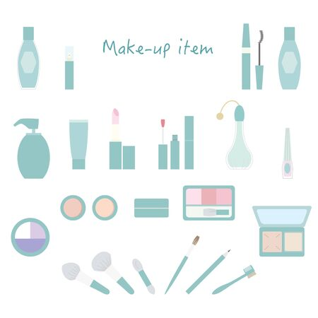 Makeup item icon set Color illustration without lines. Stockfoto - 133450760