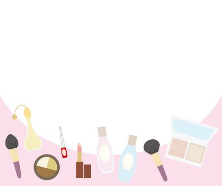 Illustration of a banner for makeup items.