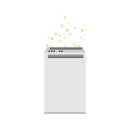 Illustration of an air purifier.