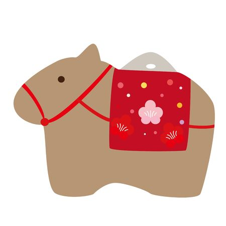 Vector illustration of cow figurine made of soil. 向量圖像