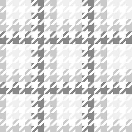 Vector image of a large houndstooth pattern with a gradient gray color scheme.