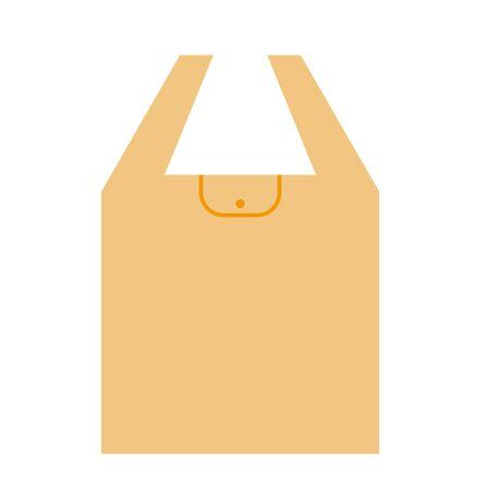 Illustration of my orange bag unfolded. Vettoriali