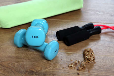 kilos: Fitness equipment and food