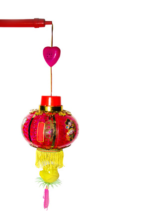 multicolor lantern: A colorful children lantern isolated on a white background