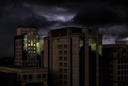 Tempestuous scenario at São Paulo - Brazil. Standard-Bild