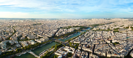 panoramic roof: Panoramic view of Paris, France. Stock Photo