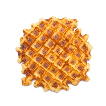 Tasty waffle isolated on white background
