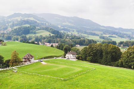 Panoramic view of Gruyeres. Switzerland