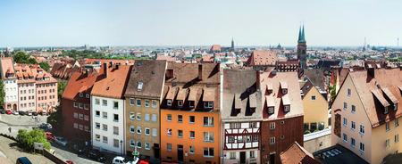 Panoramic cityscape of Nuremberg, Bavaria,  Germany Archivio Fotografico