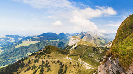 Panoramic view of Alps from the Rochers de Naye,  Switzerland Stock Photo - 83717699