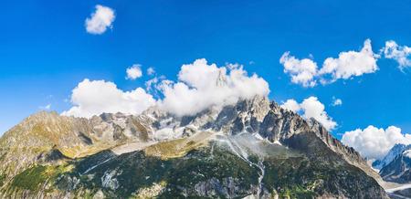 Panoramic view of Chamonix-Mont-Blanc Stock Photo - 83717690