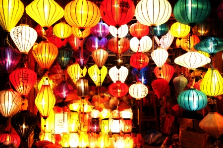 Asian Silk Lanterns photo