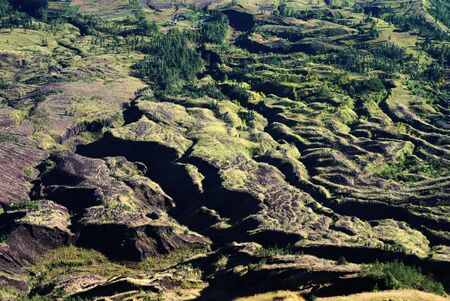 Volcanic lanscape near the Batur volcano in Bali. photo