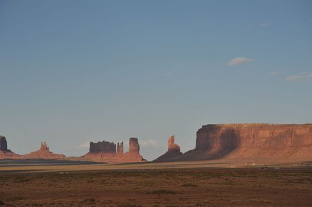 Monument Valley stone structures photo