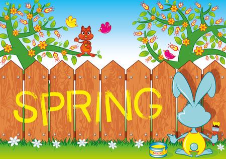 Spring Rabbit Vettoriali