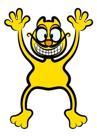 Yellow cat Vettoriali