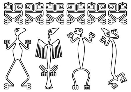 Disegni Precolombiani