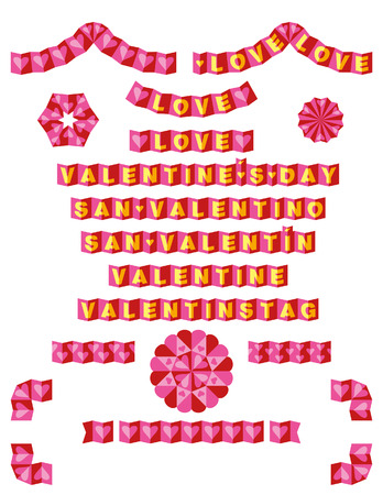 Origami confina con Amore Vettoriali