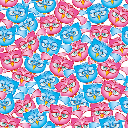Owls fly seamless pattern Archivio Fotografico - 29144277