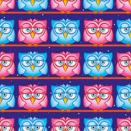 Owls pattern