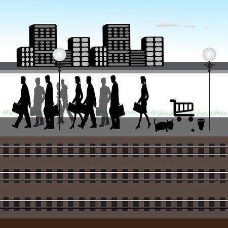 estación del metro: la estaci�n de tren