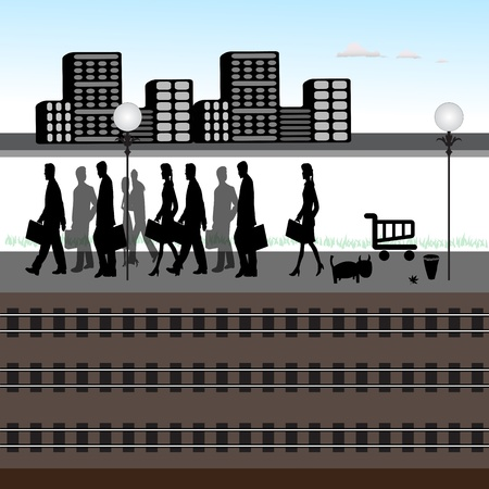 train station Stock Vector - 11637663