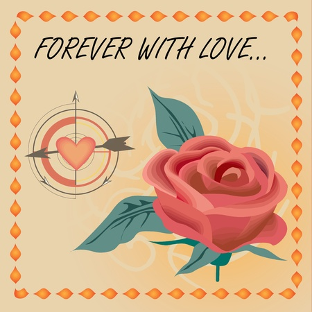 vector rose love
