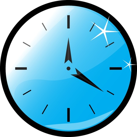 clock blue Stock Vector - 11814152