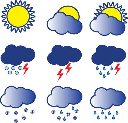 weather icons Stock Vector - 11814160
