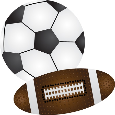 football and baseball balls Stock Photo