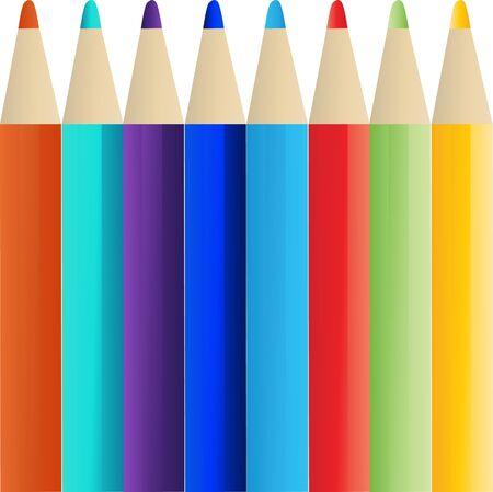 pencils colour eps 10 Illustration