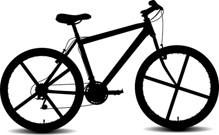 mountain bicycles: bycicle silhouette