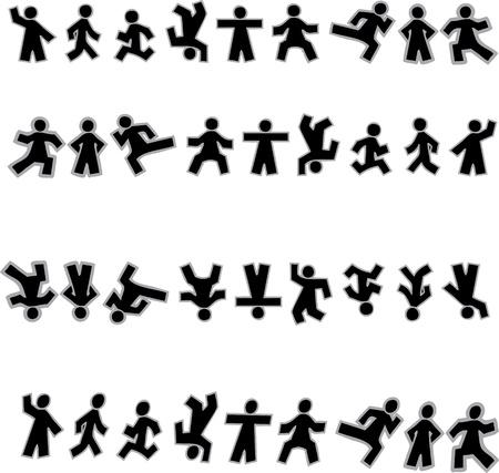 man vrouw symbool: Mensen icoon teken symbool Pictogram Stock Illustratie