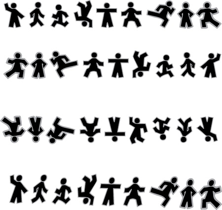 business people walking: People Icon Sign Symbol Pictogram
