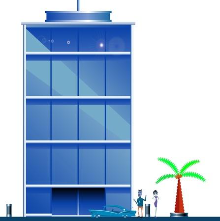 high rise: modern building