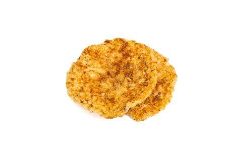 Rice crust with dried shredded pork photo