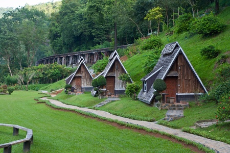 Resort near the Death Railway, Thailand�Burma Railway Editorial
