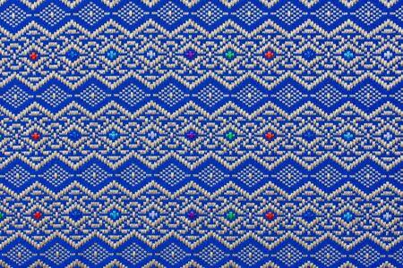 Texture of thai silk cloth photo