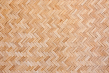 Woven bamboo wall, Thai handwork  photo