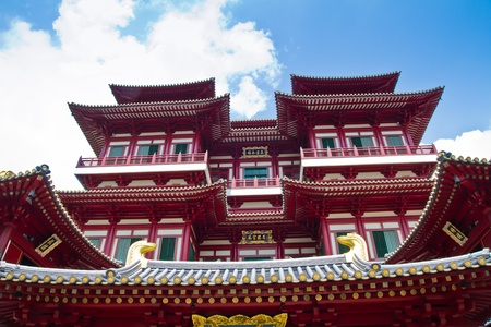 Chineese temple in Singapore photo